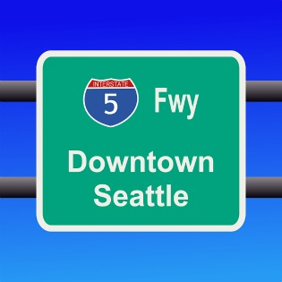 Downtown Seattle Sign