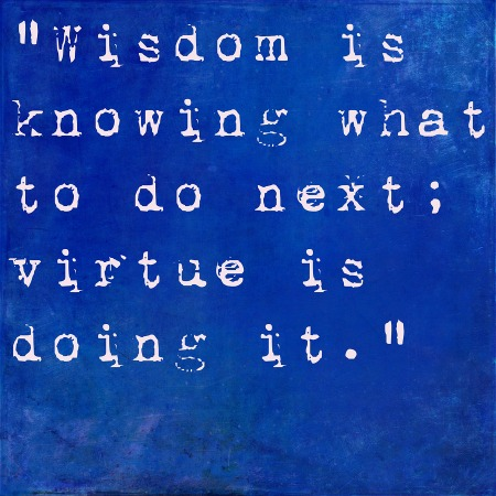 Wisdom vs. Virtue